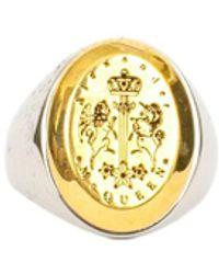 Alexander McQueen Seal Ring - Metallic