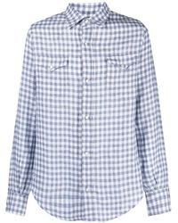Alanui Check-print Linen Shirt - White
