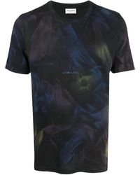 Saint Laurent Abstract Print T-shirt - Black