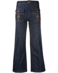 See By Chloé Cropped Jeans - Blue