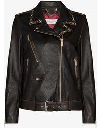Golden Goose Deluxe Brand Leather Biker Jacket - Black