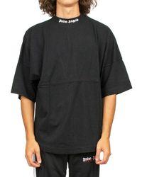 Palm Angels Oversized Logo T-shirt - Black