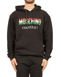 Moschino - Printed Logo Hoodie - Lyst