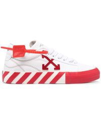Off-White c/o Virgil Abloh Sneakers Low Vulcanized in canvas - Bianco