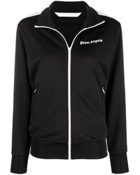 Palm Angels Chest Logo-print Track Jacket - Black