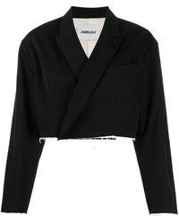 Ambush Cropped Wool Jacket - Black