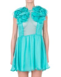 Daniele Carlotta - Ruffled Silk Chiffon Dress - Lyst