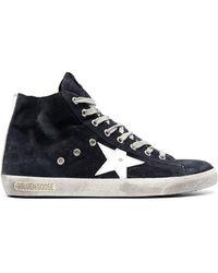 Golden Goose Deluxe Brand 'slide' Hi-top Sneakers - Blue