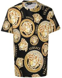 Versace T-shirts And Polos Black