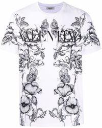 Valentino T-shirt con stampa - Bianco
