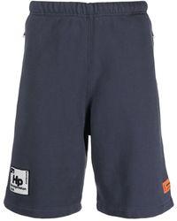 Heron Preston Periodic Logo Track Shorts - Grey