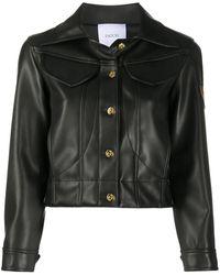 Patou Faux Leather Jacket - Black