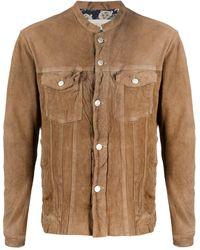 Giorgio Brato Leather Jacket - Brown