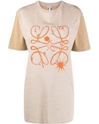 Loewe T-shirt Oversize - Natural