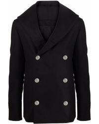 Balmain Coats Black