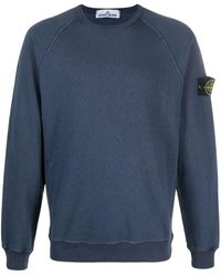 Stone Island Logo Patch Jumper - Blue