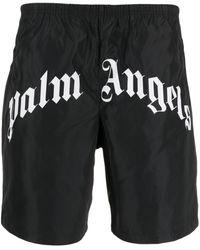Palm Angels SHORTS MARE CON LOGO - Nero