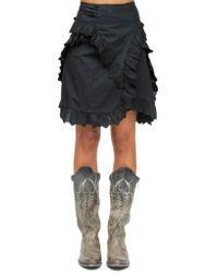 Étoile Isabel Marant - Embroidered Polplin Skirt - Lyst
