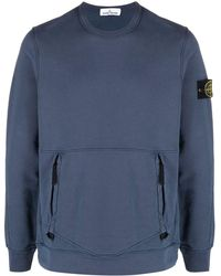 Stone Island Logo Patch Sweatshirt - Blue