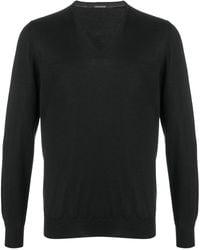 Tagliatore Silk And Virgin Wool Sweater - Black