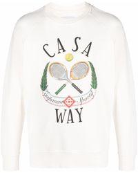 CASABLANCA Equipement Sportif Print Sweatshirt - White