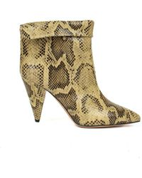 Isabel Marant - Snake Print Ankle Boots - Lyst