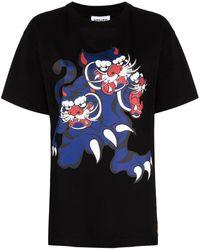 KENZO T-shirt Three Tigers X Kansai Yamamoto - Nero