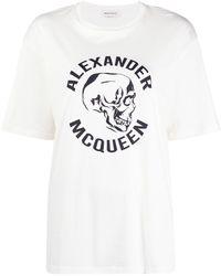 Alexander McQueen - T-SHIRT IN JERSEY DI COTONE - Lyst