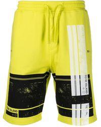Stone Island Block One Graphic-print Shorts - Yellow