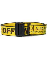 Off-White c/o Virgil Abloh Logo Print Belt - Yellow