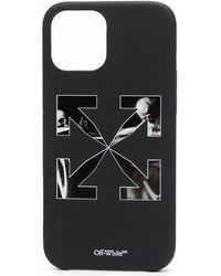 Off-White c/o Virgil Abloh Iphone 12 Pro Max Logo Cover - Black