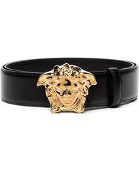 Versace Logo Belt - Black