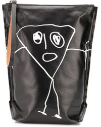 Plan C Pili Clutch Bag - Black