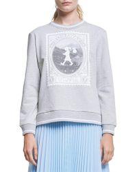 Karen Walker - Sweatshirting Airmail Sweatshirt - Lyst