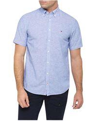 Tommy Hilfiger - Cotton Linen Shirt - Lyst