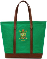 Polo Ralph Lauren - Crest Canvas-leather Tote - Lyst