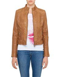 BOSS Orange - Janabelle2 Leather Biker Jacket - Lyst