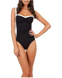 Jets by Jessika Allen Classique Dd_e Cup Banded One Piece - Black