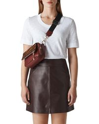Whistles - Rosa Double Trim T Shirt - Lyst