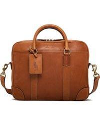 Polo Ralph Lauren - Smooth Leather Breifcase - Lyst