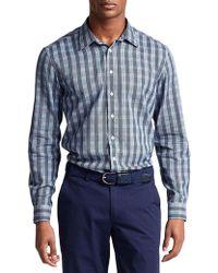 Thomas Pink Austin Check Slim Fit Casual Shirt - Bloomingdale's Slim Fit - Blue