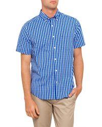 Nautica - Short Sleeve Gingham Shirt - Lyst