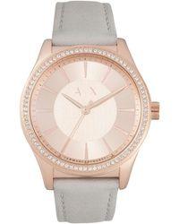 Armani Exchange - Nicolette Grey Watch - Lyst