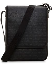 Armani Jeans - Eco Leather North-south Reporter Messenger - Lyst