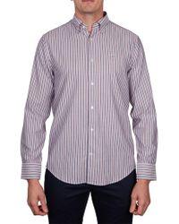 GANT O1. Tp Oxford Multi Stripe Reg Hbd - Purple