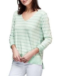 Gap - Cotton Stripe Essential V-neck Jumper - Lyst