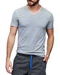 Gap - Vintage Wash Heathered Stripe V-neck T-shirt - Lyst