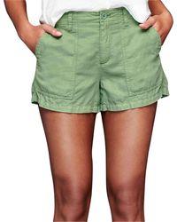 Gap - Linen-cotton Utility Shorts - Lyst