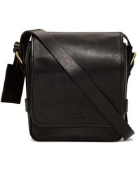 Polo Ralph Lauren - Smooth Leather Reporter Bag - Lyst