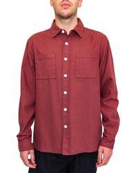 Saturdays NYC - Nolan Washed Denim L/s Shirt - Lyst